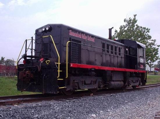 Shenandoah Valley Railroad No. 8701, a Whitcomb RS-4-TC locomotive at Verona, Virginia. Photo by William J. Grimes.