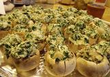 Stuffed Mushrooms link you to our catering menu selection page