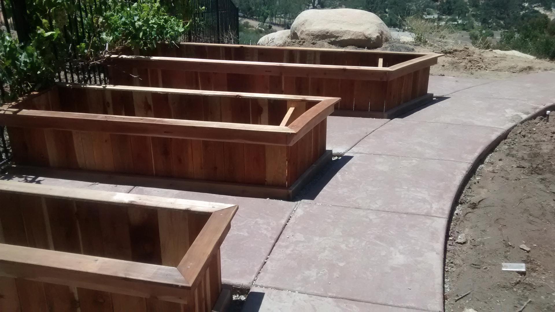 kitchen raised garden three layout cedar kit beds bed vegetable dog frugal ideas diy