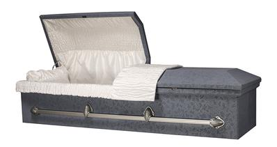open, Cloth-Covered Caskets