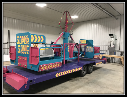super sonic carnival ride for sale side view