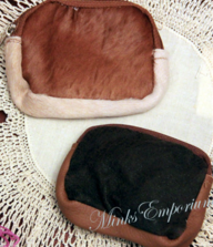 Cowhide Leather Zippered Coin Purse