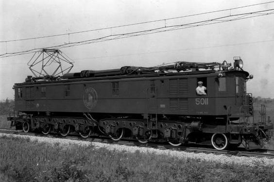 A Great Northern Y-1 locomotive in 1927.