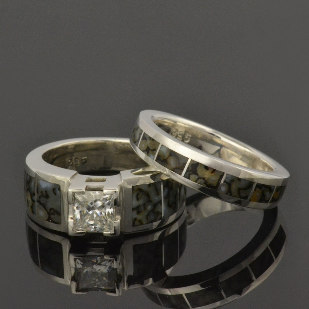 regarding bone of wedding dinosaur with one ring collection and meteorite rings best engagement forever moissanite view