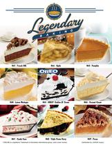 Legendary Baking Pies Fundraiser Brochure
