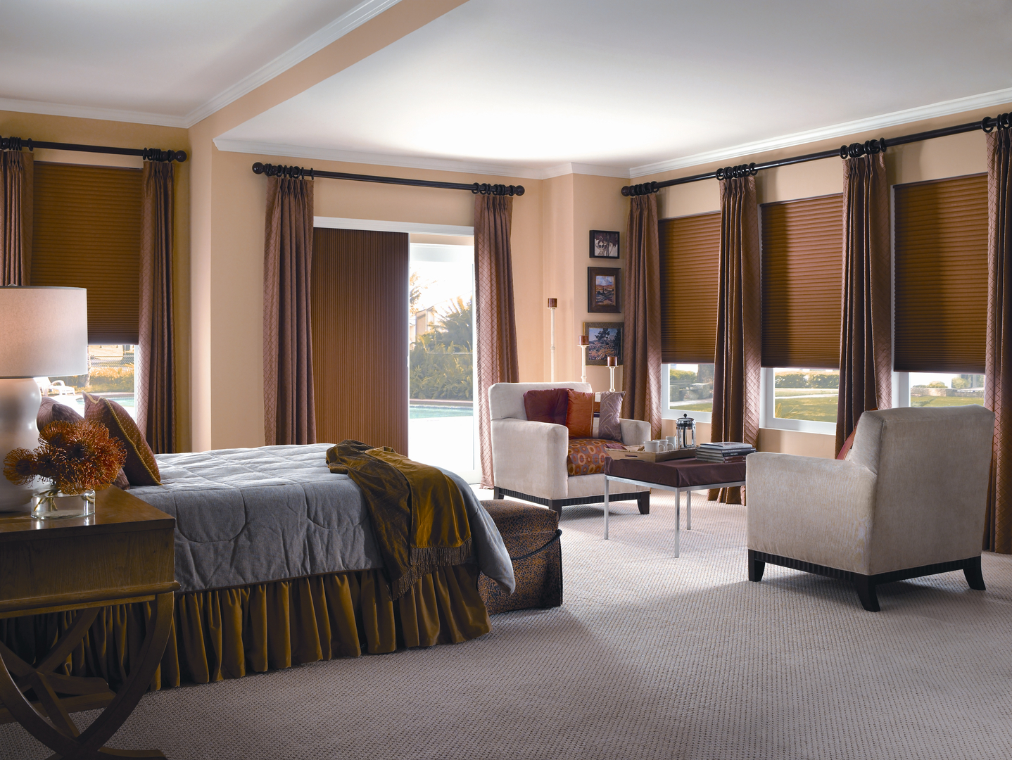 Curtains blackout honeycomb shades blackout shades blinds blinds and - Moodscapes Cellular Vertical Shades Wood Horizontal Blinds Woven Treasures Woven Wood Blinds