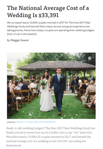 The Knot Annual wedding survey 2017