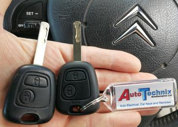 Citroen replacement remote keys