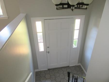 newly painted interior entrance in Foxboro, MA.
