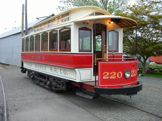 Third Avenue Railway System 220, the oldest operating streetcar in the United States.