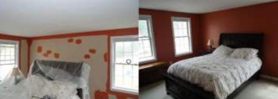 newly painted master bedroom.