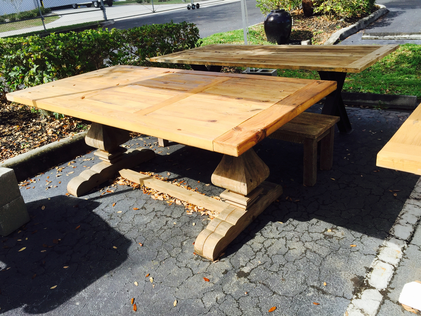 Rustic Farmhouse Dining Tables Solid Wood Furniture From Decor Direct Wholesale Warehouse