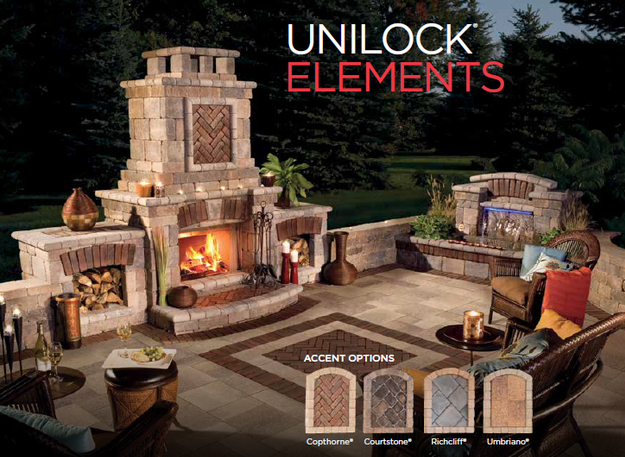 Unilock Element Fireplace with Multiple Options Shown