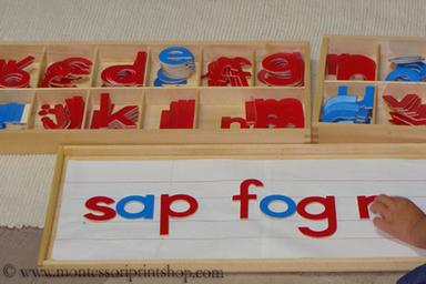 wooden Montessori moveable alphabet - Montessori Print Shop