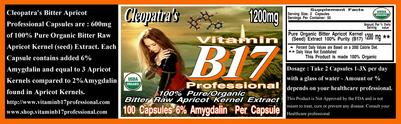 Vitamin B17 Professional 6% Amygdalin