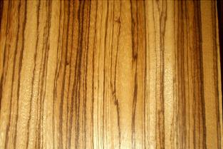 Zebra wood hardwood flooring, exotic hardwood flooring species; wood floor with zebra stripe looking grain lines