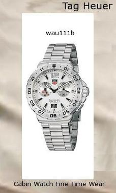 Watch Information Brand, Seller, or Collection Name TAG Heuer Model number WAU111B.BA0858 Part Number WAU111B.BA0858 Model Year 2011 Item Shape Round Dial window material type Anti reflective sapphire Display Type Analog Clasp Fold-Over Clasp with Safety Case material Stainless steel Case diameter 41.4 millimeters Case Thickness 12.5 millimeters Band Material Stainless steel Band length Men's Standard Band width 20 millimeters Band Color Silver Dial color White Bezel material Stainless steel Bezel function Stationary Calendar Date Special features Chronograph, Luminous, Stop watch Item weight 3 Pounds Movement Swiss quartz Water resistant depth 660 Feet