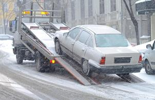 Car towed by a towing company in Queens, NY