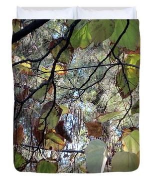 October Splendor Fine Art Duvet Cover by Laura Davis