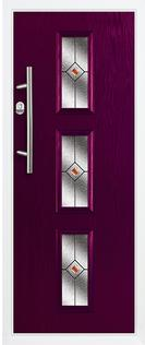 3 square composite door in purple