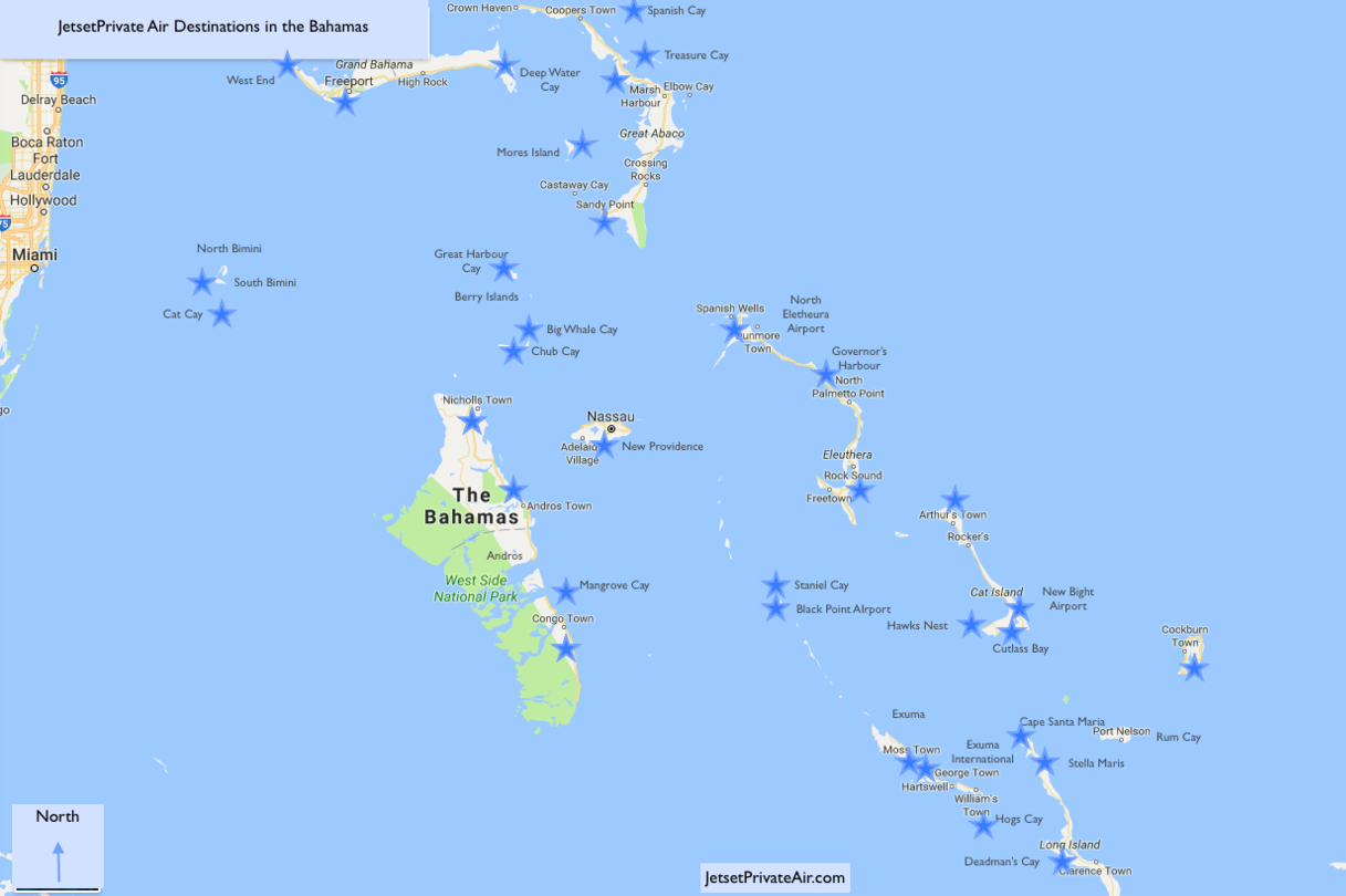 map of the bahamas  destinations. jetsetprivate air  charter flights to the bahamas  map of the