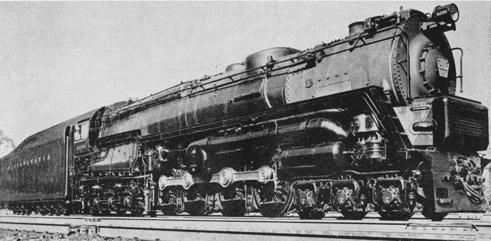 Pennsylvania Railroad class S2 steam turbine locomotive No. 6200.