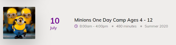 Minions One Day Camp