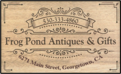 Frog Pond offers Antiques and Gifts and a great atmosphere