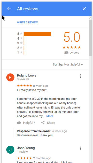 Reviews, Locksmith,