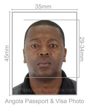 Angola Passport and Visa Photo