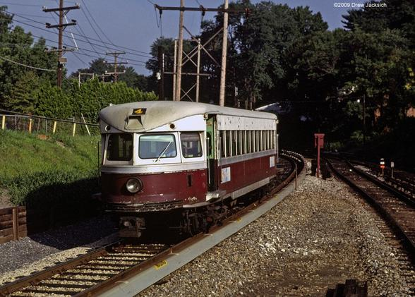P&W Brill Bullet No. 4 at Bryn Mawr, Pennsylvania in August of 1980. Photo by Drew Jacksich.