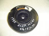 258-818354A2, 258-859232T6, T15 Used flywheel for a 1995 20 hp Mercury outboard motor Serial #OG157080. 258-818354A2, 258-859232T6, T15
