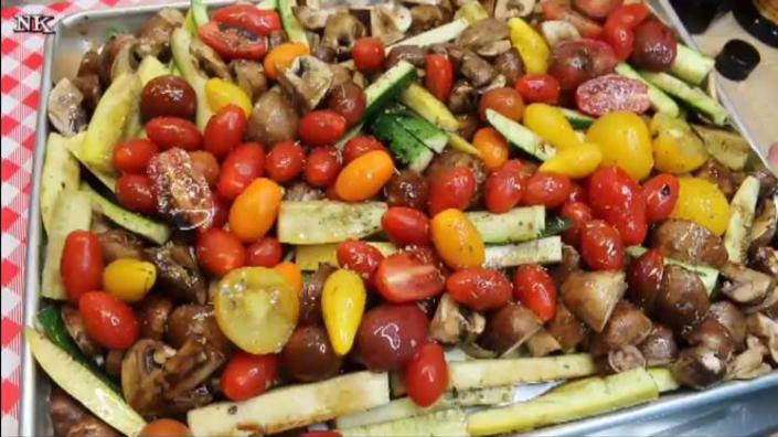 Balsamic Chicken Sheet Pan Dinner Recipe, Prepping the Vegetables, Noreen's Kitchen