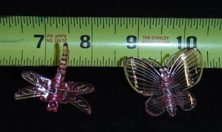 large decorative butterfly plant clips durable plastic sturdy nursery growers 5 colors small