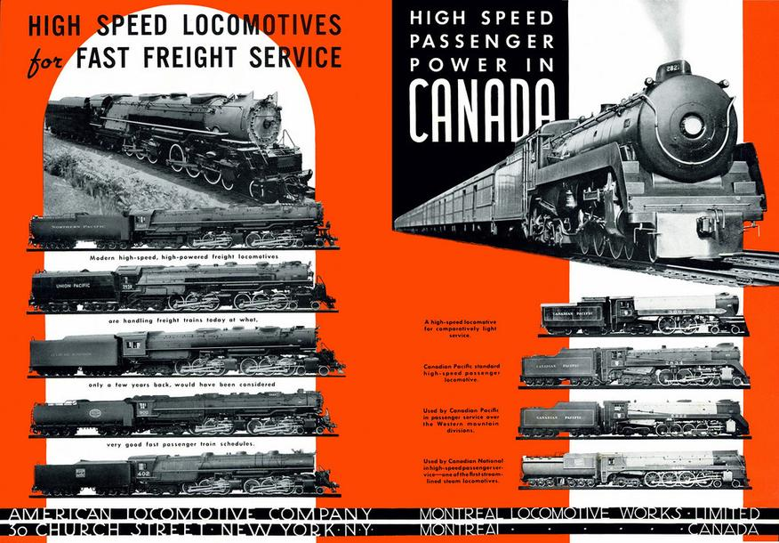 A Montreal Locomotive Works advertisement, circa 1940.