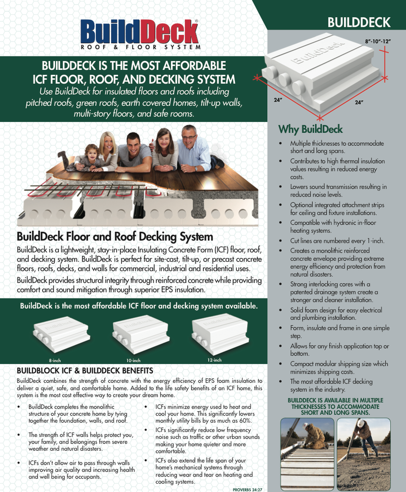 Build Deck ICF Forms Sold @ ICF Supply INC  Wi
