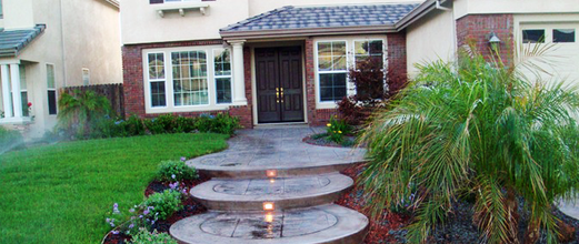 An example of landscaping being done in Tracy, CA