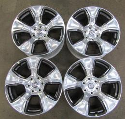 RAM 1500 6 LUG POLISHED SET OF 4 LARAMIE RIMS
