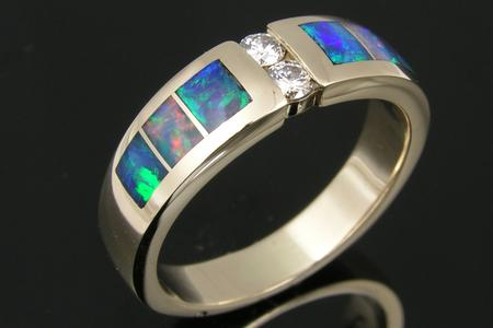 Opal ring repaired to like new condition by Hileman