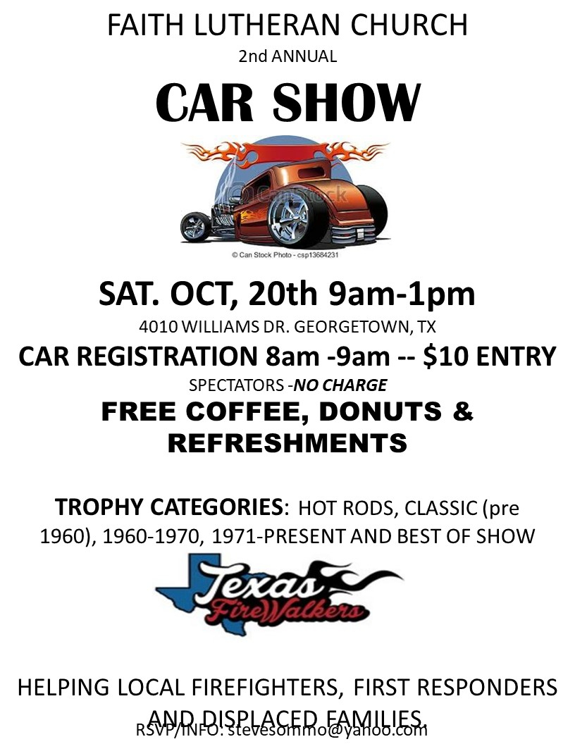Other Events Of Interest - Car show trophy categories