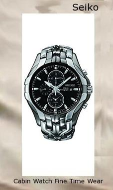 Seiko Men's Excelsior Black Ion Finish Solar Chronograph Watch SSC139