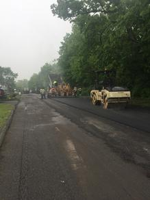 residential paving roadways for new community