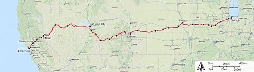 Amtrak California Zephyr Route Map