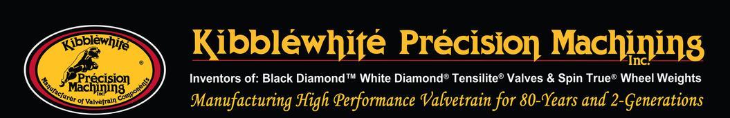 Kibblewhite-Valve, Black Diamond® Stainless, +0.060