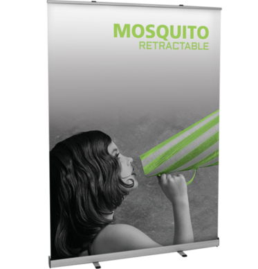 Mosquito 1500 retractable banner stand.