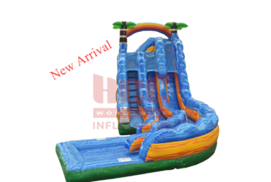 Dbl Ln Tropical Thunder Curve Waterslide