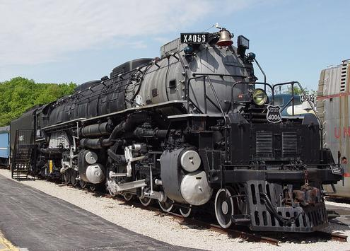"Union Pacific 4-8-8-4 ""Big Boy"" No. 4006, preserved by the Museum of Transportation, St. Louis, Missouri."
