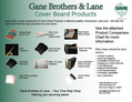 Cover Board Product Comparison Chart