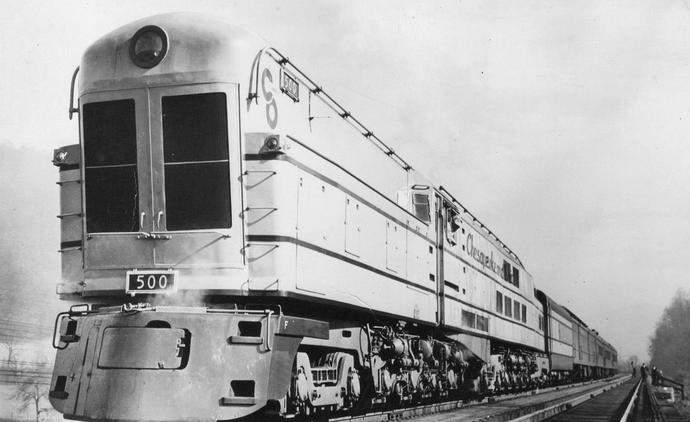 No. 500, one of three Class M1 steam turbine locomotive delivered to the C&O for the Chessie.