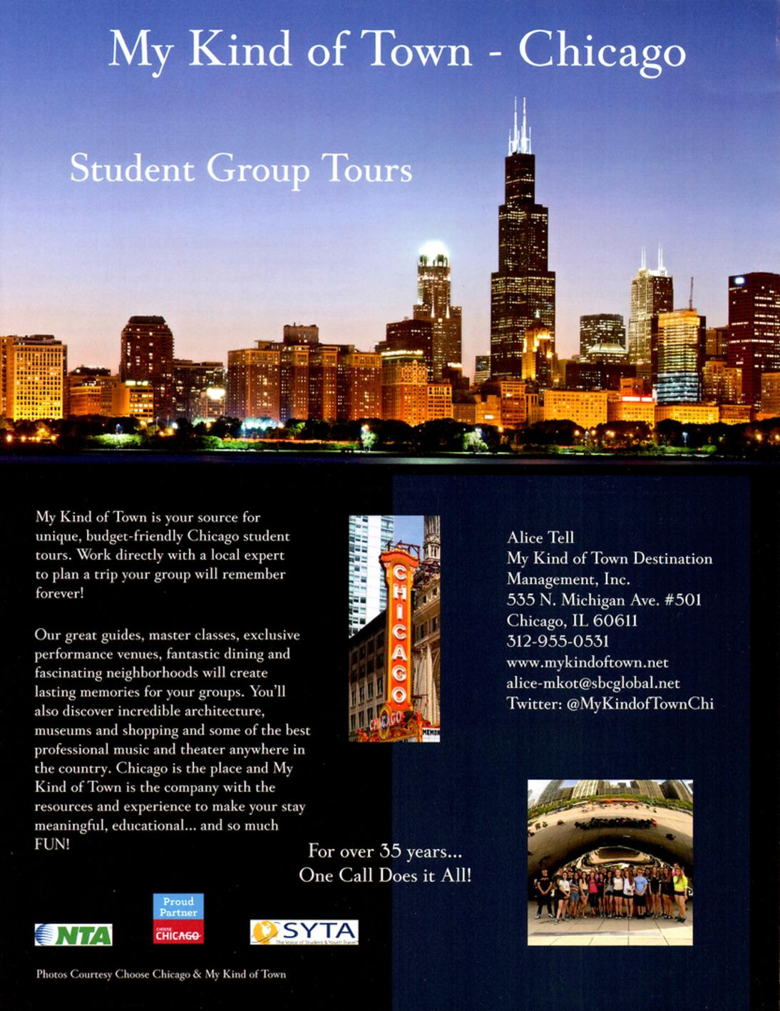 Student Tours Of Chicago Student Experiences My Kind Of Town